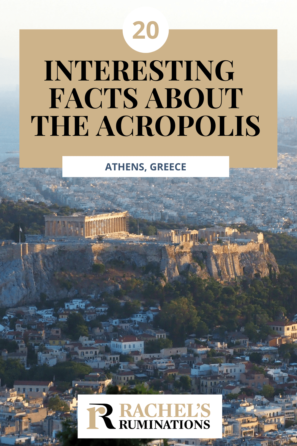 A gem of classical Greek architecture, the Acropolis is an absolute must-visit! Read these facts about the Acropolis in Athens before you go! via @rachelsruminations