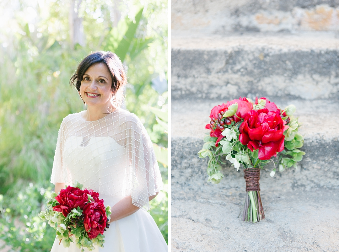 bridal portraits at the mountain mermaid in topanga