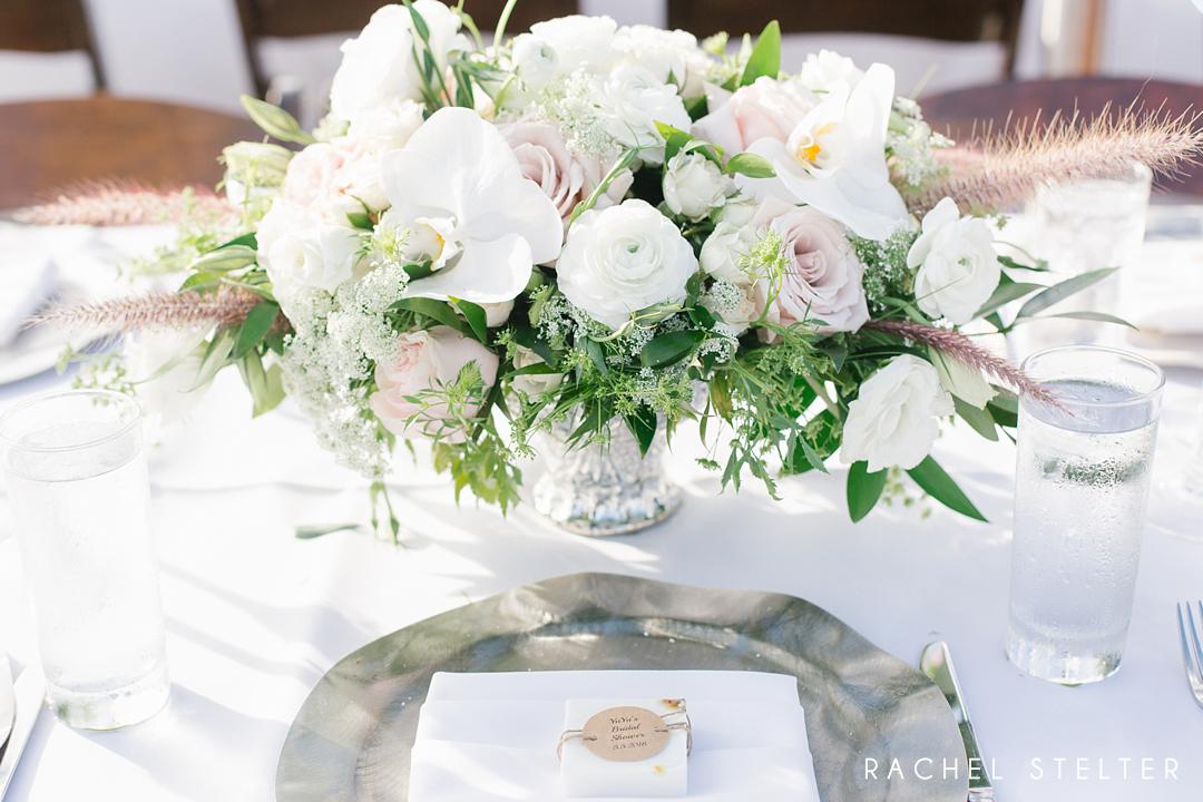 floral centerpiece from romantic laguna beach bridal shower