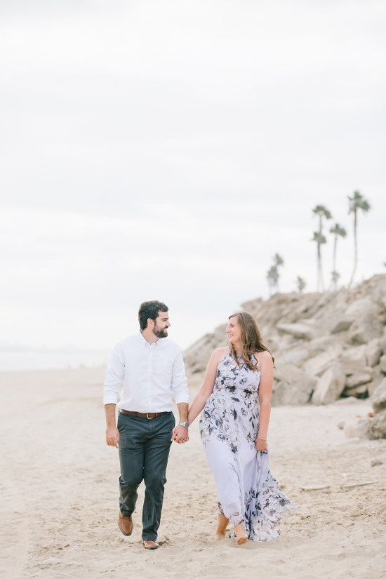 southern California beach engagement session