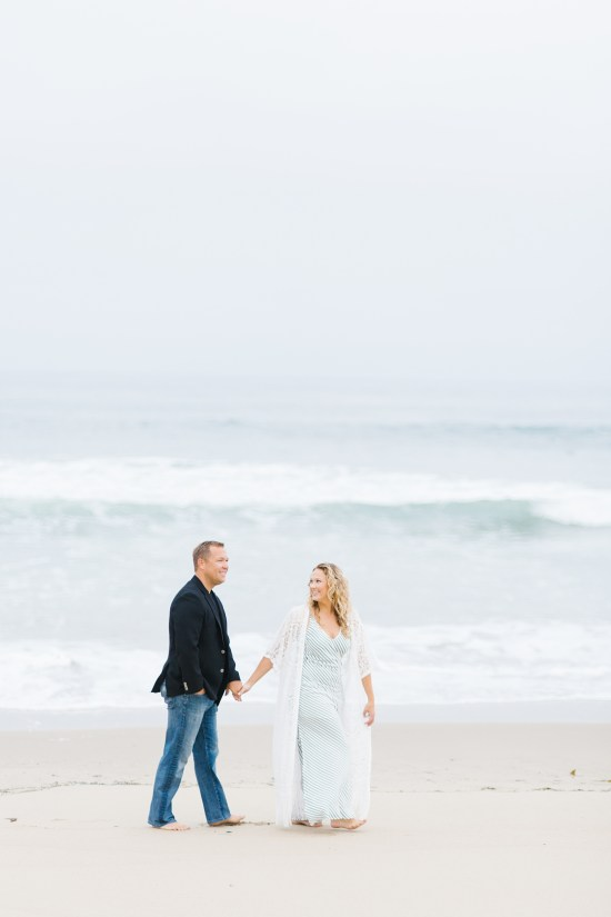 los angeles beach engagement session