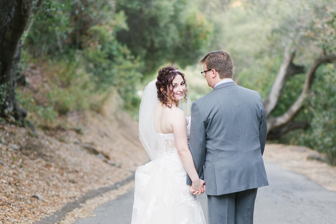 topanga canyon wedding bride and groom portraits