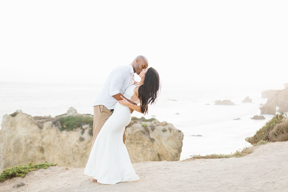 el matador state beach engagement photos