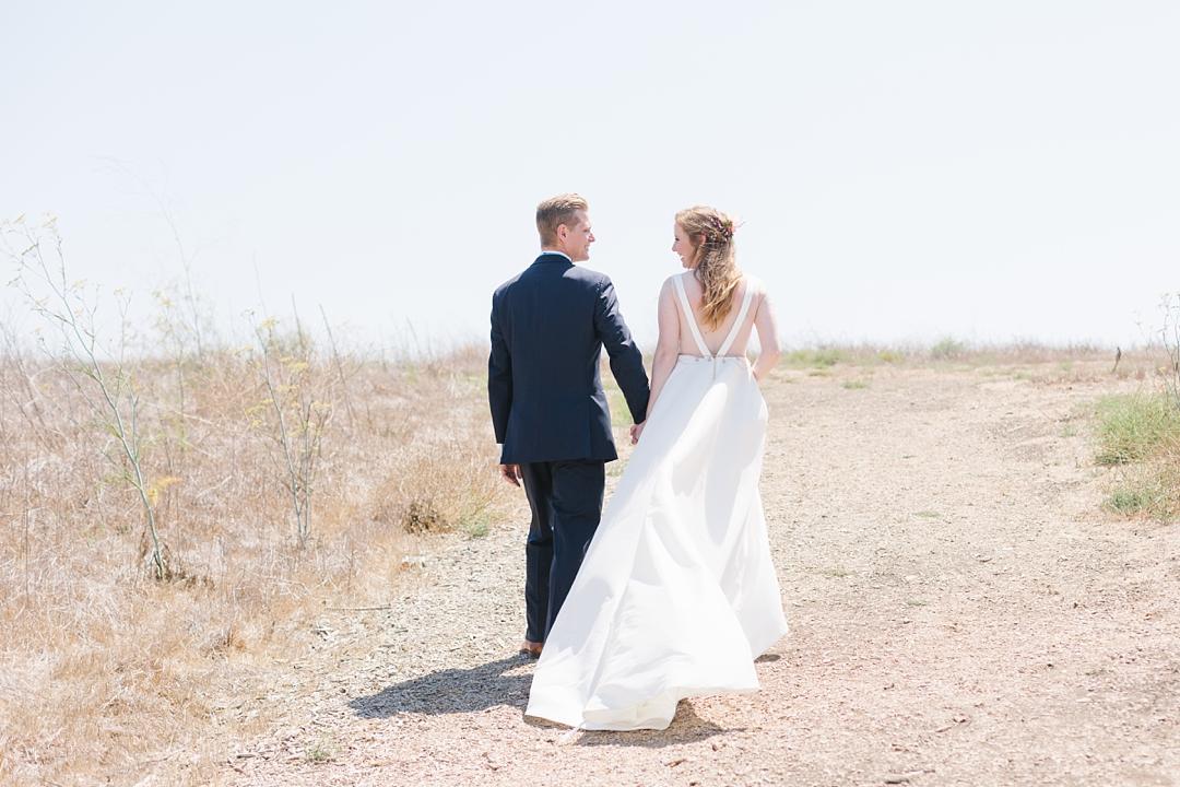 BHLDN bride palos verdes wedding
