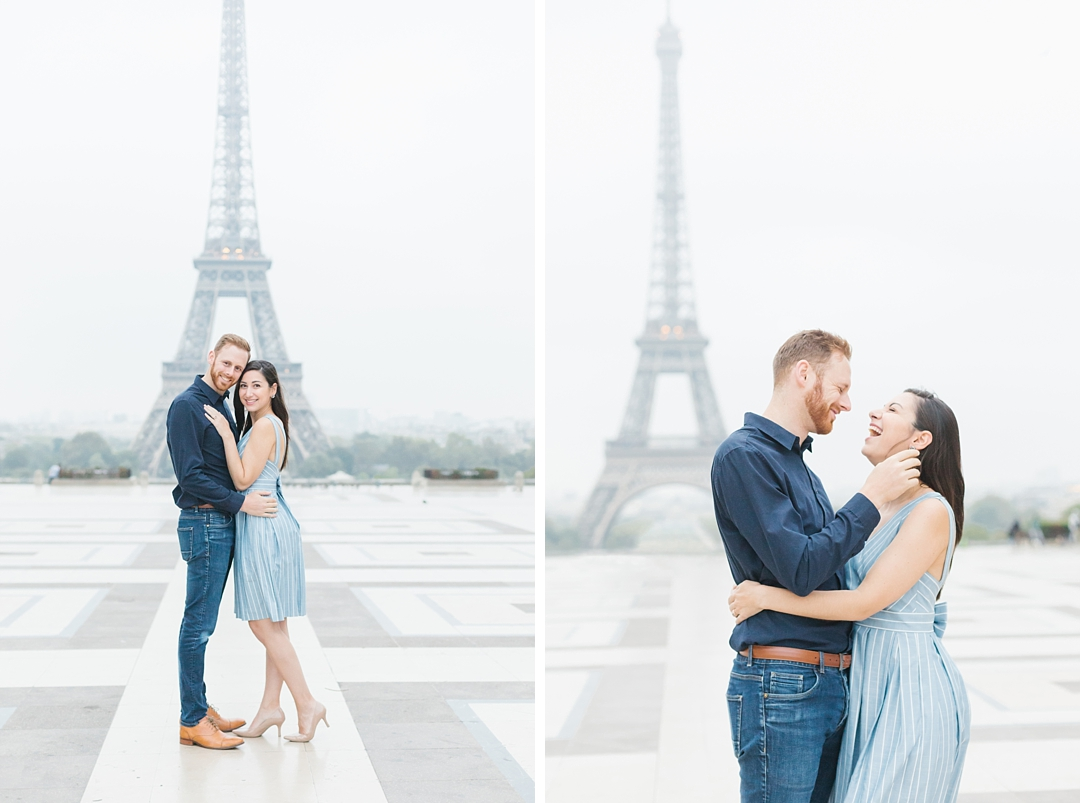 romantic paris anniversary photos at trocadero