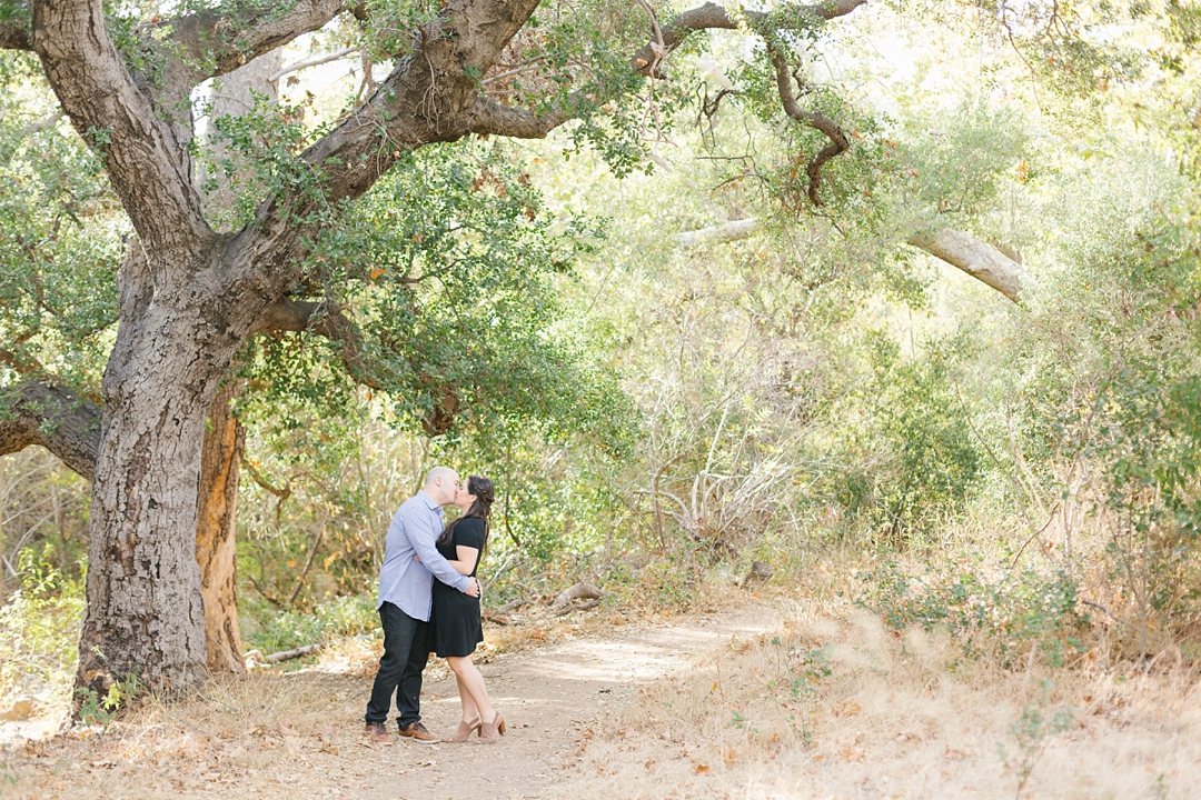 solstice canyon engagement session in malibu