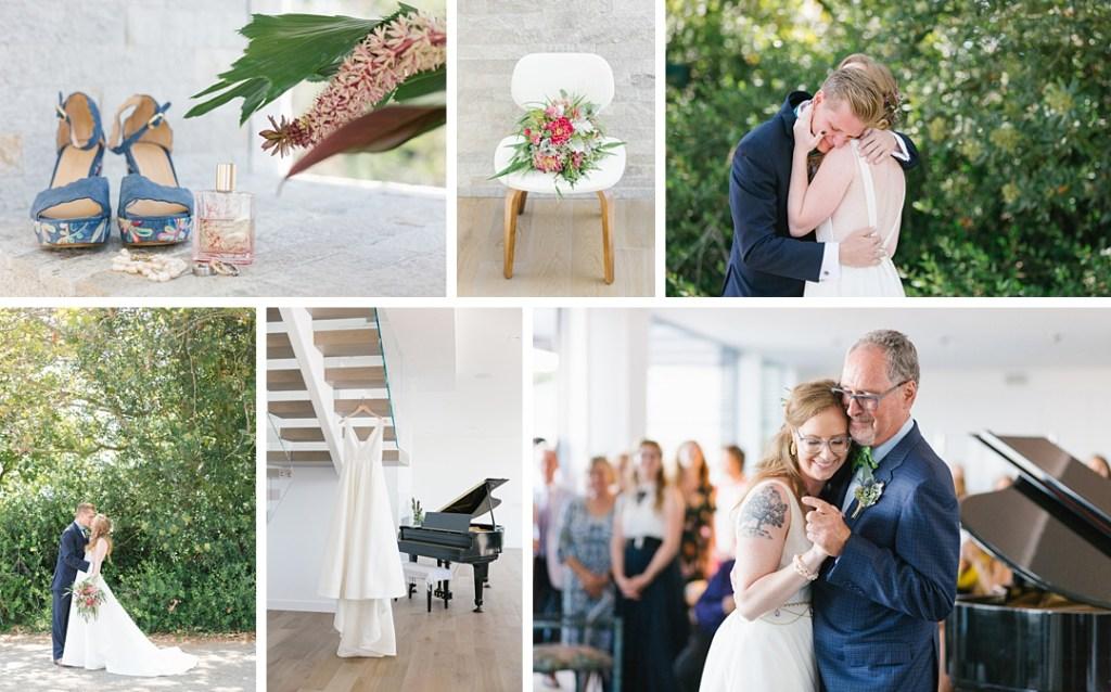 Palos Verdes wedding with modern boho touches