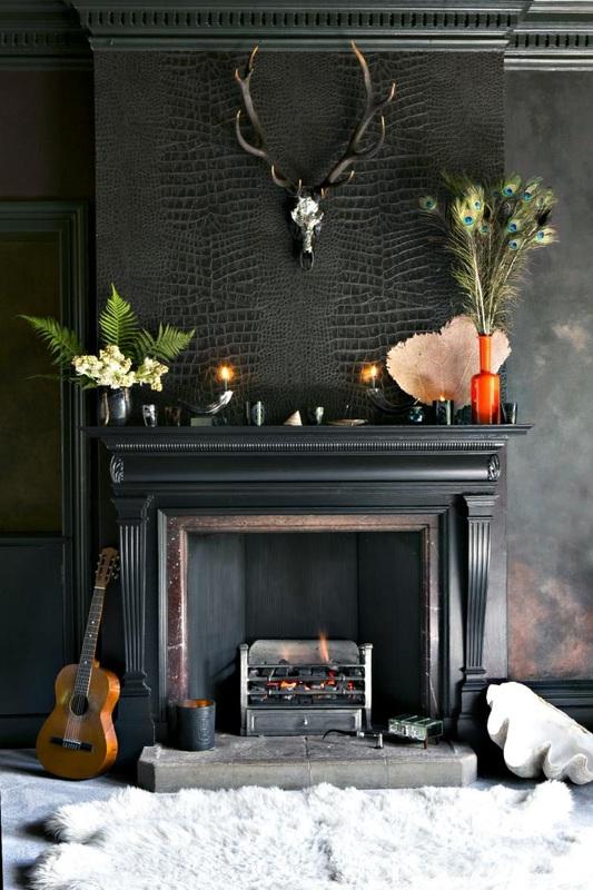 cheminée noire
