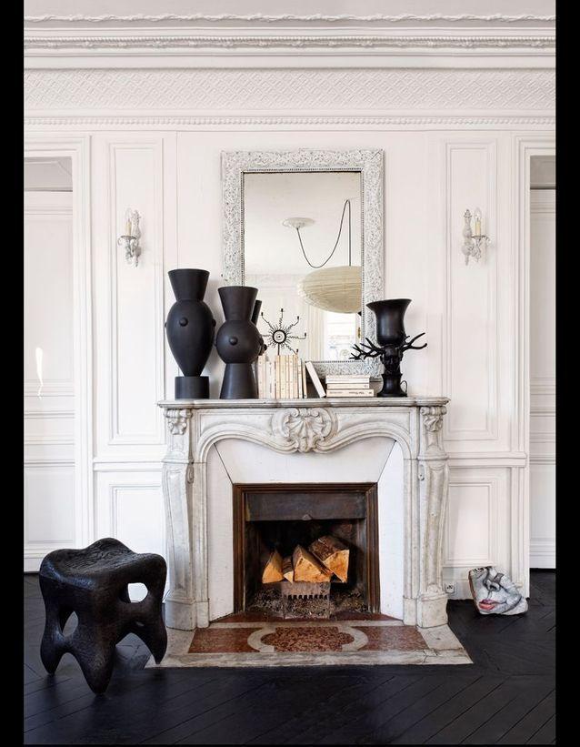 cheminée marbre blanc