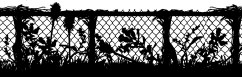 fence with wildflower- image for vinyl cut stenciling