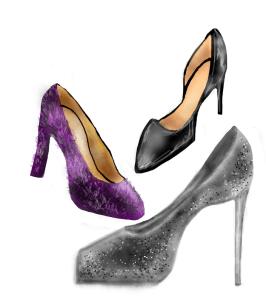 textured heels