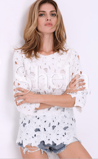 blouse broderie sheinside blog mode lille rachel vdw blog lille