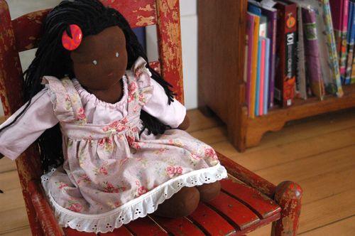 A Waldorf doll dress. | Clean : : the LuSa Organics Blog