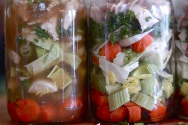 Pressure canning meals. {Clean.}