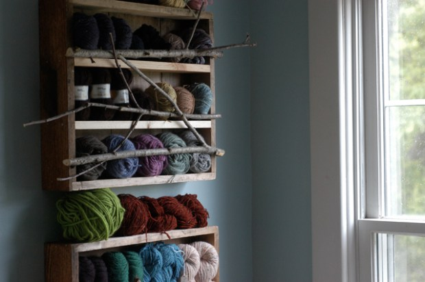 DIY yarn storage from old drawers. {Clean.}