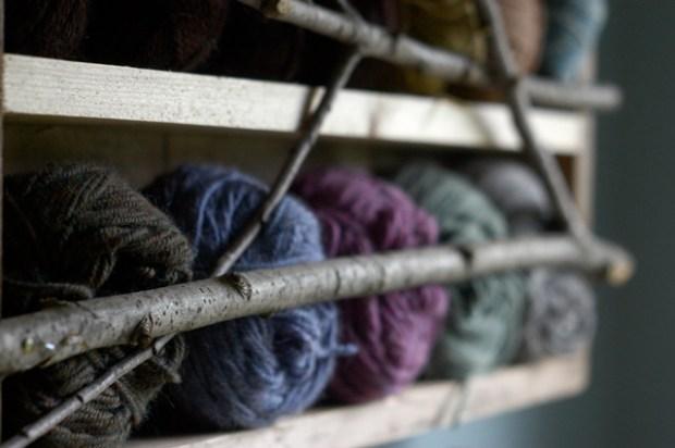DIY yarn storage from old drawers. {Clean.}