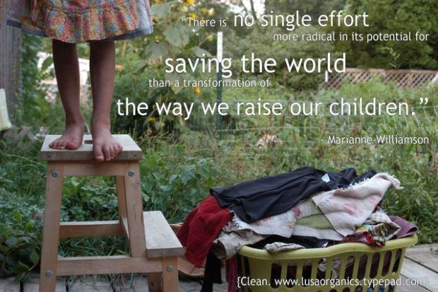 The way we raise our children. {Clean. The LuSa Organics Blog}
