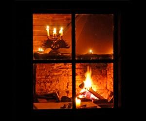 am offenen Feuer
