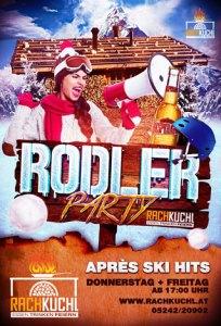 Rodler-Party mit Apres Ski Hits und Special Shots immer wenns zum Rodeln geht