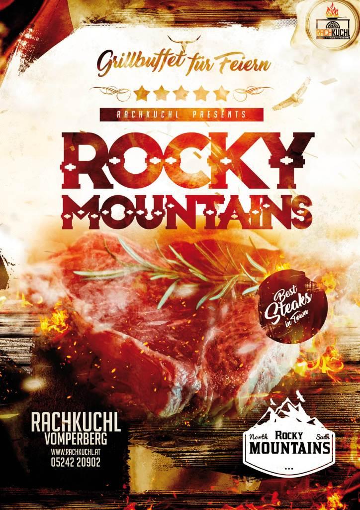 Feiern Sie bei uns in der RachKuchl mit einem Rocky Mountains Grill Buffet