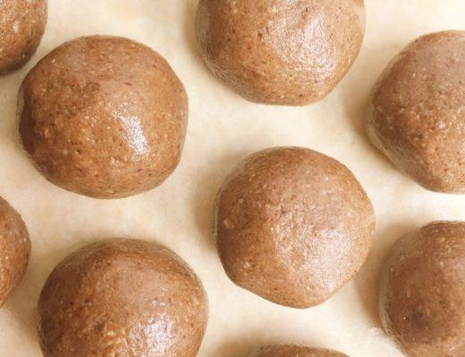 grain free chocolate cookie dough bliss balls