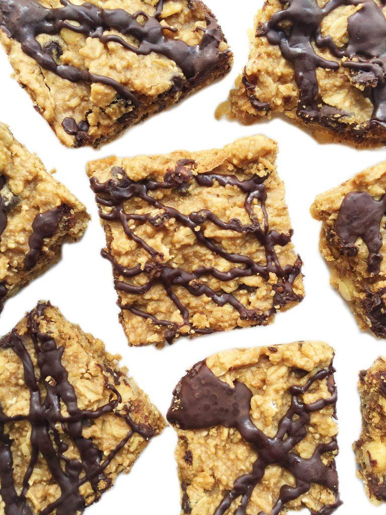 Vegan Chocolate Peanut Butter Oatmeal Bars