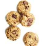 Dairy-free & gluten free-friendly Flourless Oatmeal Peanut Butter Chocolate Chip Cookies