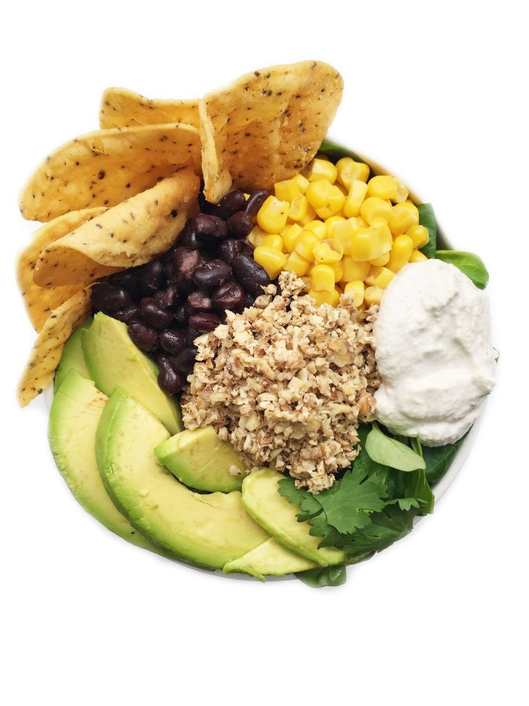 Plant Based Taco Salad with Cashew Sour Cream by rachLmansfield