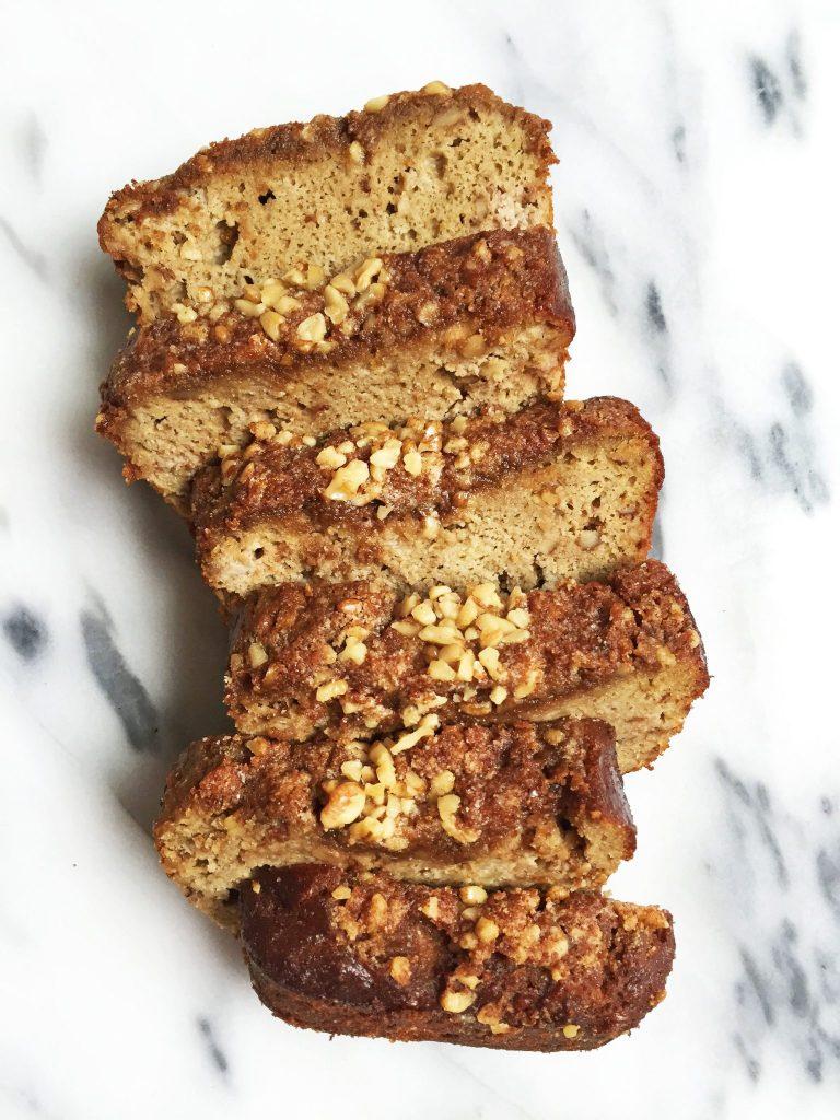 Paleo Cinnamon Streusel Banana Bread