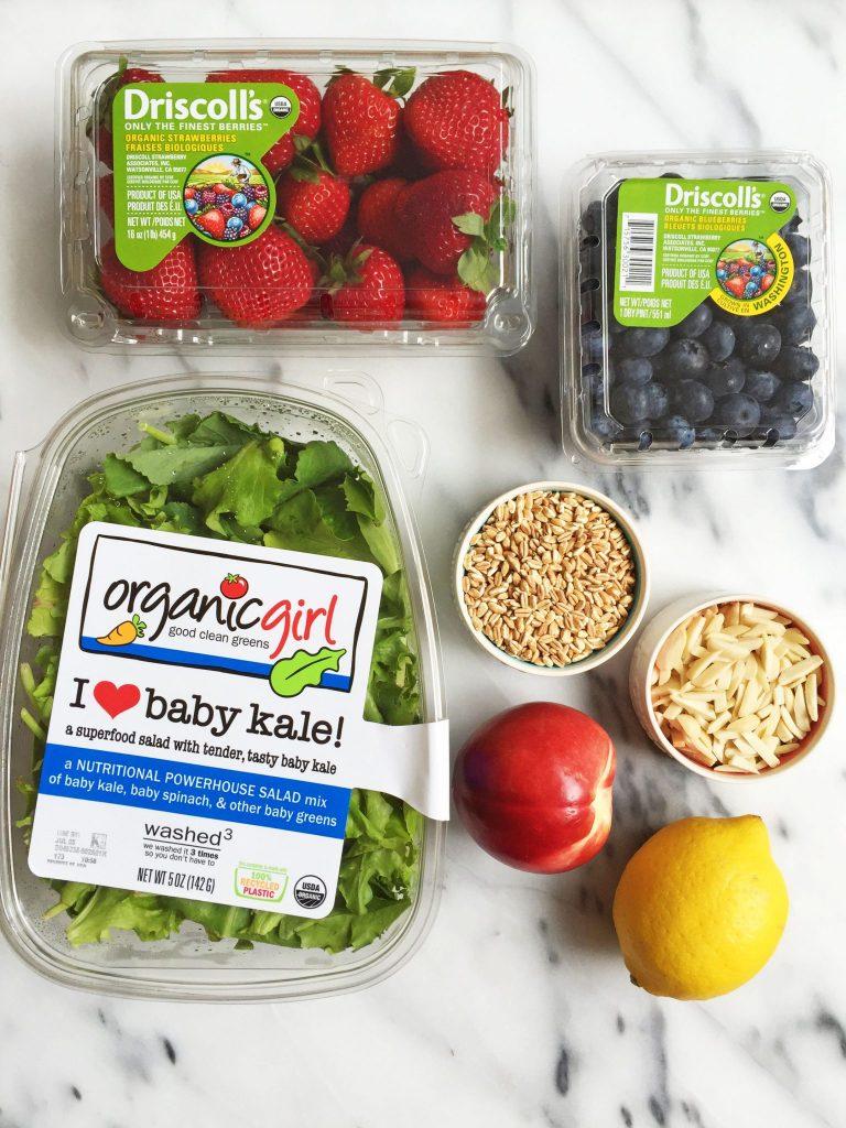 Summer Superfood Salad with Strawberry Lemon Dressing