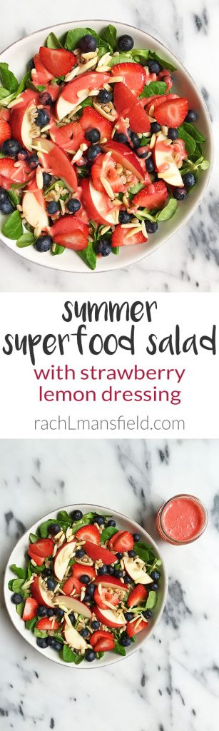 Summer Superfood Salad with Strawberry Lemon Dressing