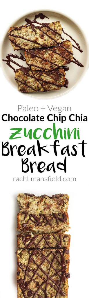 Chocolate Chip Chia Zucchini Breakfast Bread (paleo & vegan)