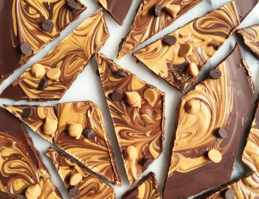 Dark Chocolate Peanut Butter Cup Bark made with just 3 ingredients