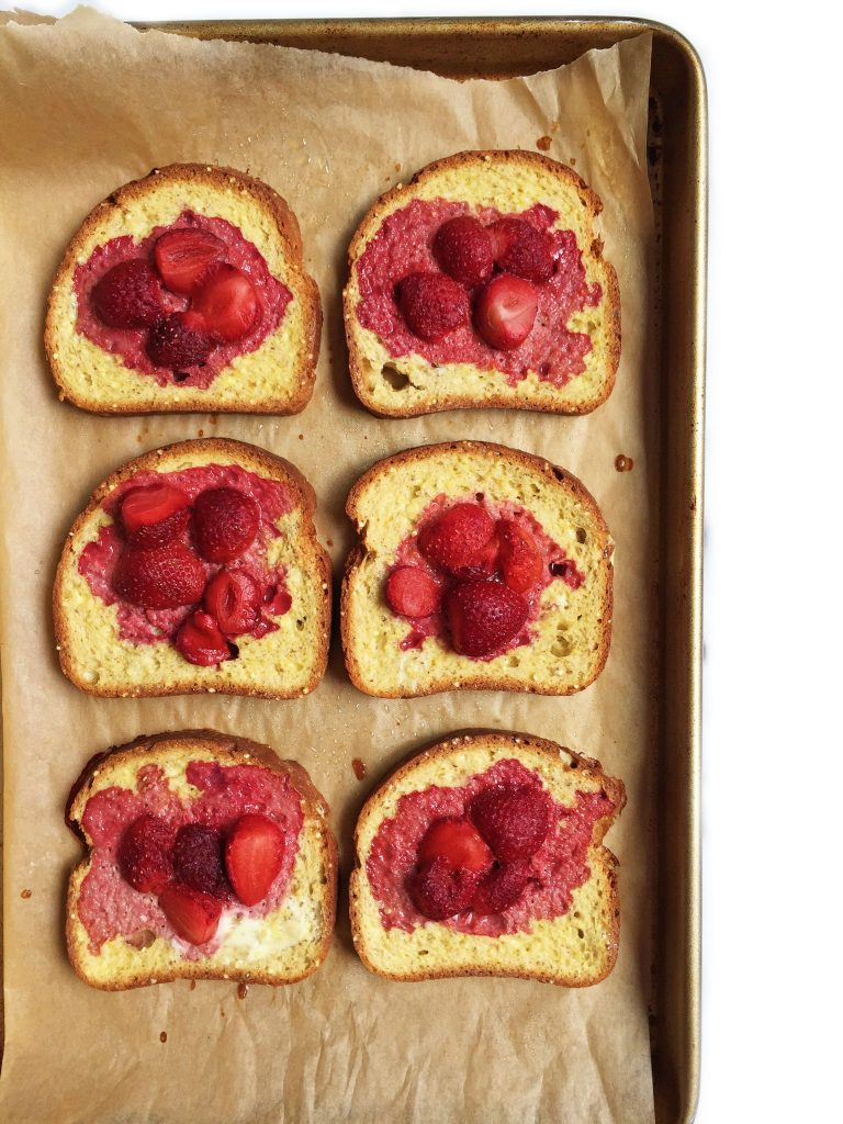 Gluten-free Baked Strawberry French Toast