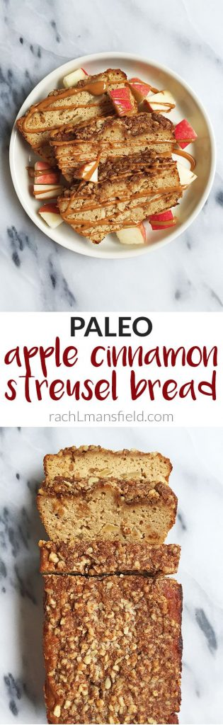 Deliciously Easy Paleo Cinnamon Apple Streusel Bread