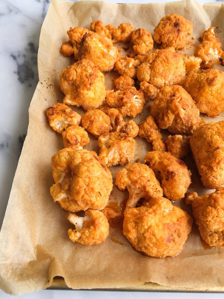 Crispy Baked Buffalo Cauliflower Wings