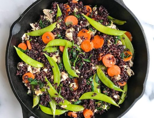 One-Skillet Vegetarian Fried Forbidden Rice