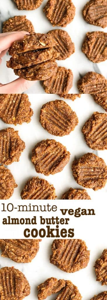 10-minute Vegan Almond Butter Cookies