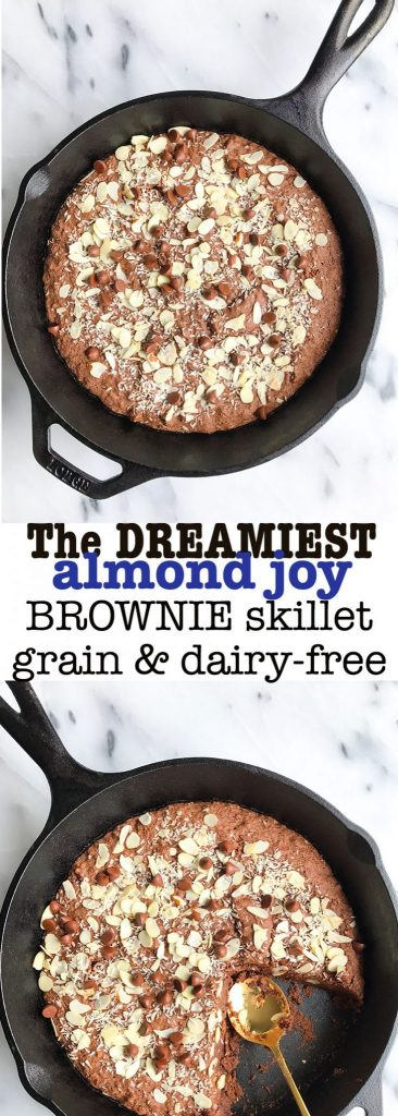 The Dreamiest Almond Butter Brownies that are vegan, gluten free-friendly and ready in less than 30 minutes! Made with oat flour and HUMMUS!