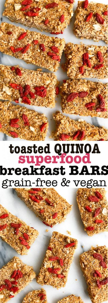 Toasted Quinoa Superfood Breakfast Bars