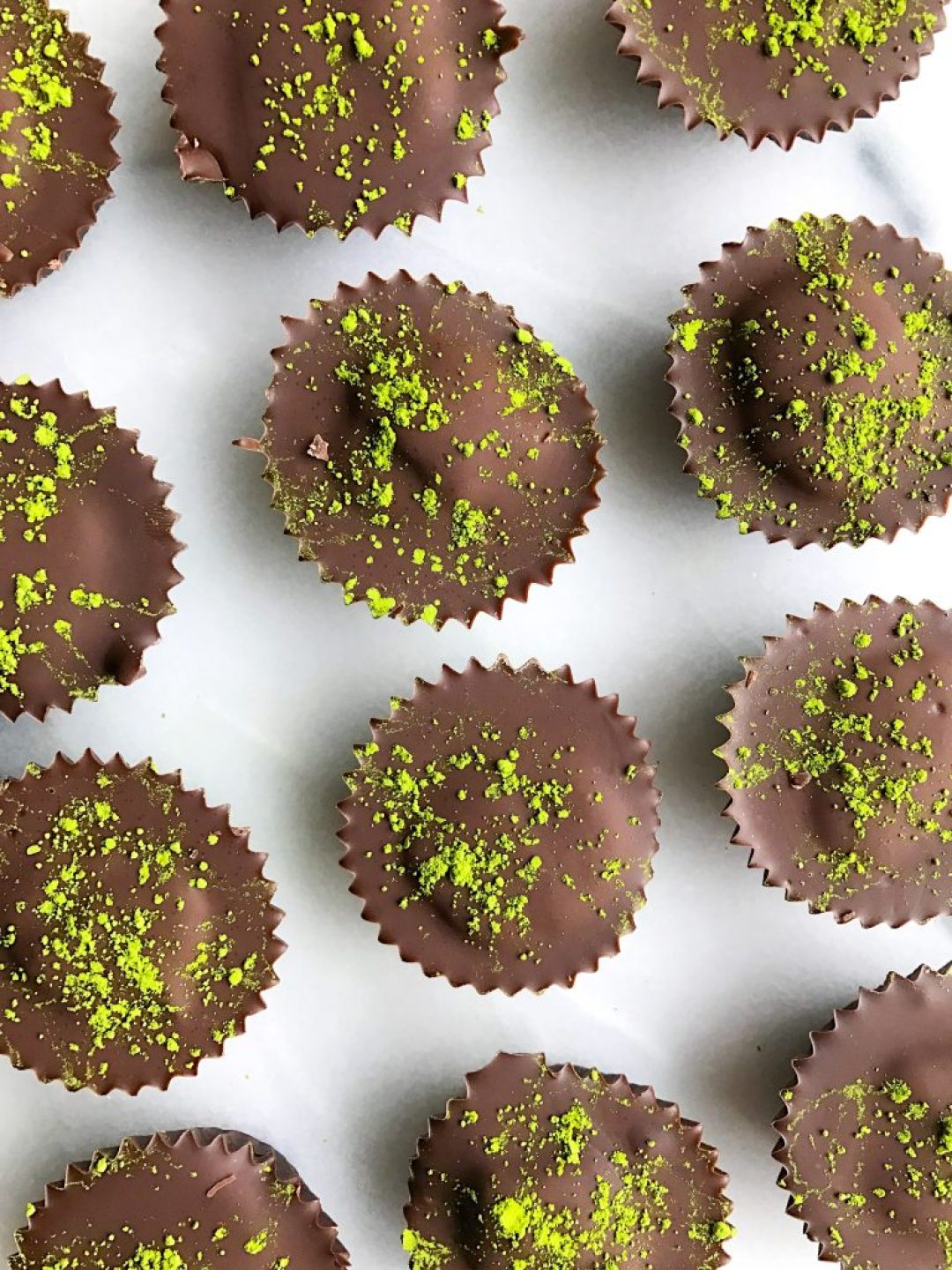 Super Easy Double Chocolate Matcha Cups for a delicious vegan matcha dessert
