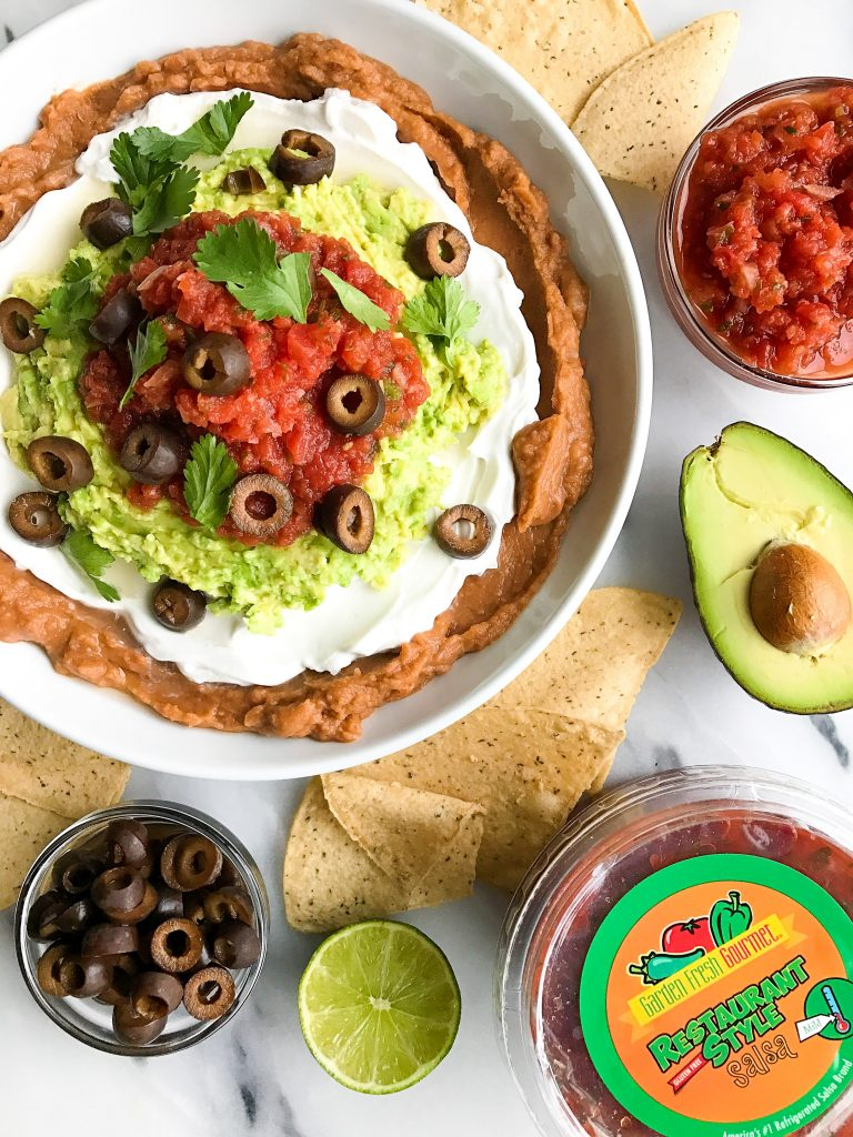 Vegan and Gluten-free Healthy Seven Layer Taco Dip