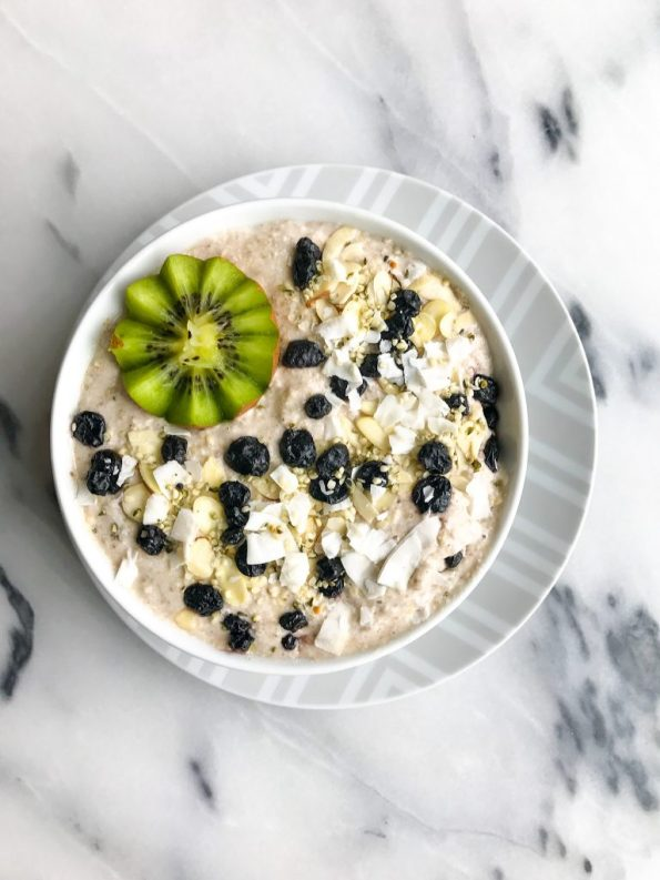Nourishing Breakfast Pudding for a delicious vegan porridge made with buckwheat!