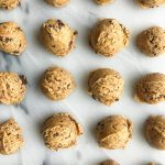 No-Bake Cacao Chip Peanut Butter Fudge Cookie Balls with no added sugar!