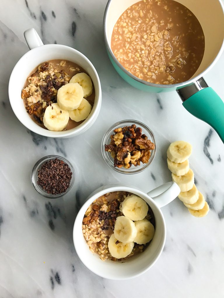 Chocolate Maca Overnight Soaked Porridge for an easy & healthy plant-based breakfast