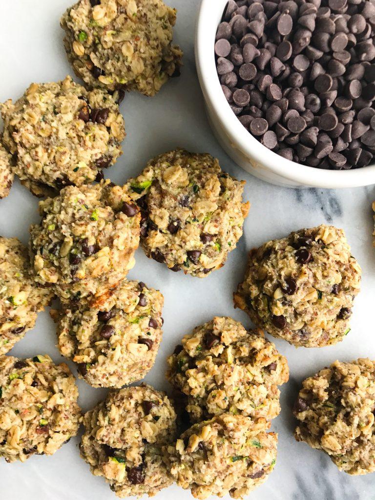 Breakfast-y Chocolate Chip Zucchini Bread Cookies (vegan)