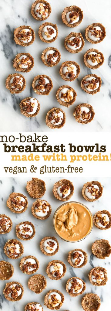 Mini No-Bake Oatmeal Breakfast Bowls (vegan, gluten-free)