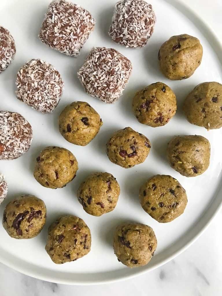 Triple Nut Pistachio Cacao Snack Balls made with wholesome ingredients for paleo snack!