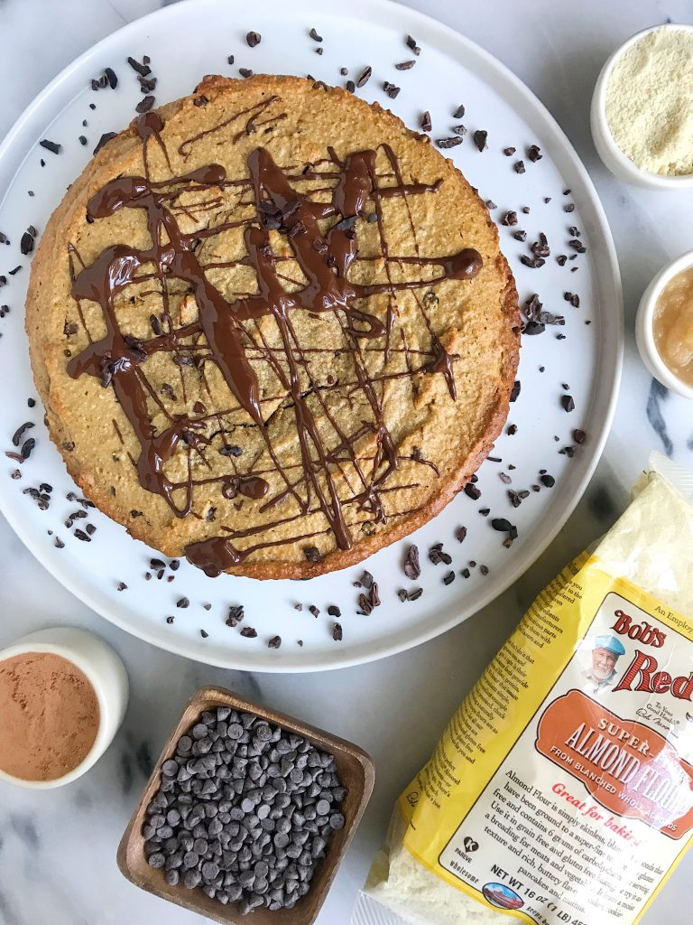 Doughy Paleo Chocolate Chip Cookie Cake
