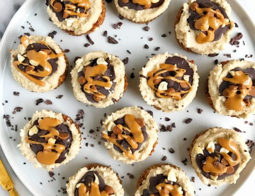 Vegan Cashew Cream Cheesecakes that are gluten-free and grain-free for an easy healthy cheesecake!